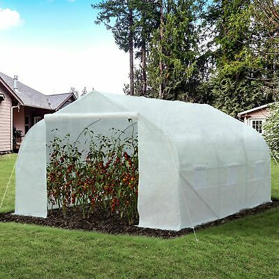 Outsunny 3.5 X 3 X 2m Large Walk-in Garden Peak Top Greenhouse Polytunnel • 80.99£
