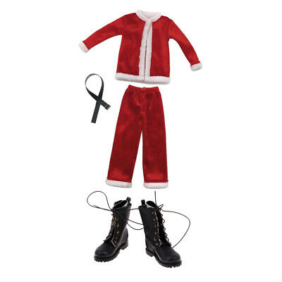 $27.18 • Buy 1/6 Christmas Costume Full Set & Shoes For Hot Toys Enterbay Figure Body