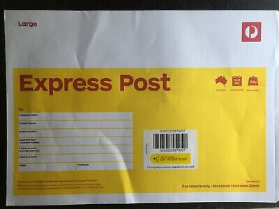 AU72 • Buy 10 X B4 Large Prepaid EXPRESS Document Envelope Aust Post With EXPRESS DELIVERY