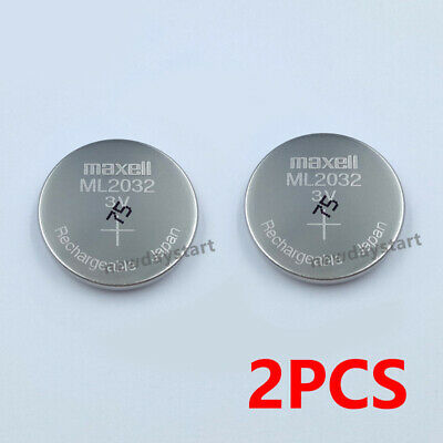 AU10.92 • Buy 2pcs For MAXELL ML2032 ML 2032 Rechargeable Button Coin Cell CMOS Battery