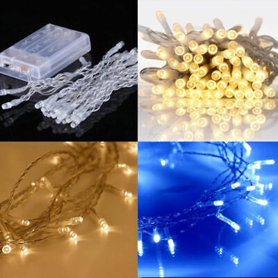 50 LED Battery Operated String Fairy Lights Twinkle Steady Outdoor Indoor X'mas • 3.99£