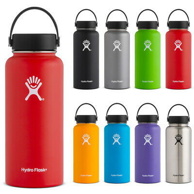Hydro Flask 32oz Wide Mouth Bottle In 9 Different Colors NEW • 39.95$