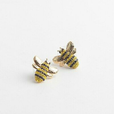$ CDN36.17 • Buy KATE SPADE Picnic Perfect Pave Bee Stud Earrings Gold Plated