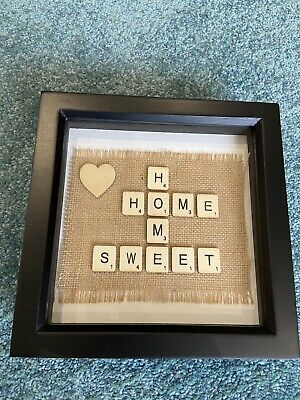 Home Sweet Home - Handmade Scrabble Picture • 8£