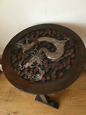 Dragon  Carved Tilt Top Solid Wood Table -- Character Item • 55£