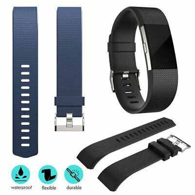 AU7.79 • Buy HOT Replacement Silicone Wrist Band For Fitbit Charge HR 2 / Charge 2