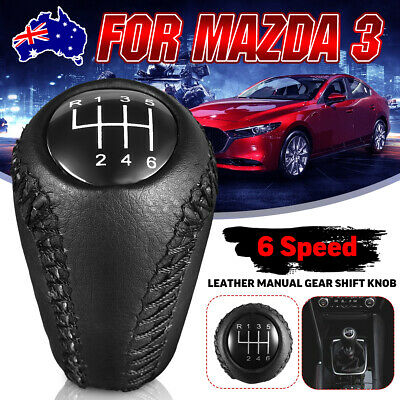 AU19.99 • Buy 6 Speed Car Manual Gear Shift Knob Hand Leather For Mazda 3 5 6 / CX-7 MX-5 New