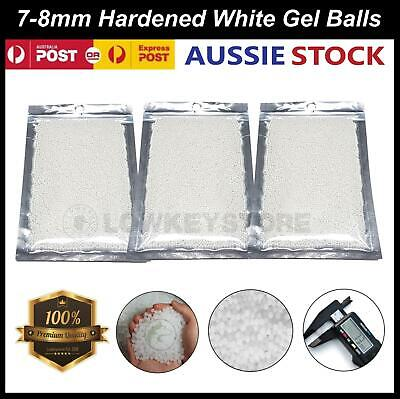AU11.39 • Buy 7-8MM Hardened Milkies Gel Balls Milky White COMP Grade Ammo Gel Blaster 7MM
