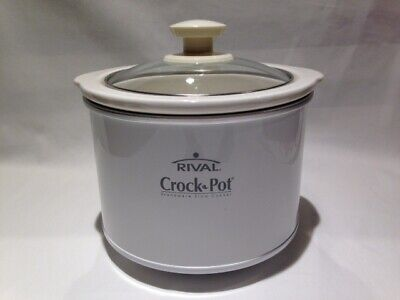 $ CDN18.80 • Buy Small 7  Rival Crock Pot Stoneware 1.5qt Slow Cooker Model 3215 Great For Dips !
