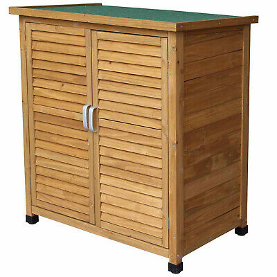 Wooden Garden Shed Outdoor Store Cupboard Tool Storage Lawn Mower Wood Cabinet • 119.99£