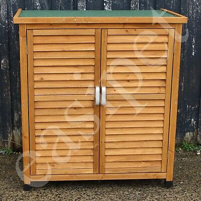 Wooden Garden Shed Outdoor Store Cupboard Tool Storage Lawn Mower Wood Cabinet • 104.99£