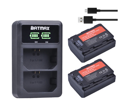 $ CDN75.09 • Buy 2x FZ100 Sony A7 III A9 Battery With LCD Charger