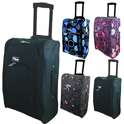 Lightweight Hand Luggage Cabin Bag Suitcase Ryanair Easyjet Case Fits 55x40x20 • 11.99£
