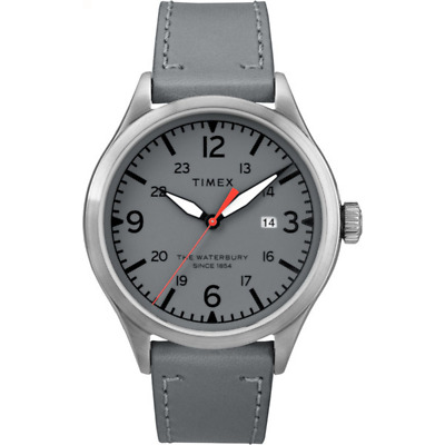 $46.99 • Buy Timex Waterbury Traditional 40mm | Gray Leather Strap| Watch TW2R71000
