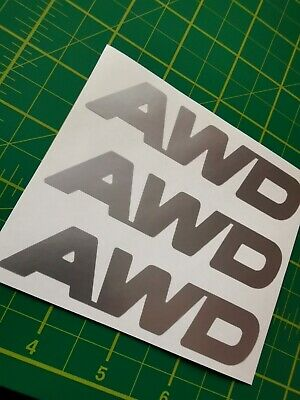 Ford Kuga Awd X3 Doors Boot  Stickers Vinyl Decals Silver  • 4£