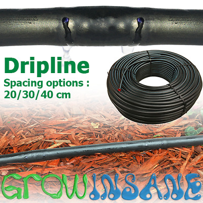 Drip Line Garden Irrigation Surface Pipe 13mm - 20/30/40cm Spacing 25m/50m /100m • 19.99£
