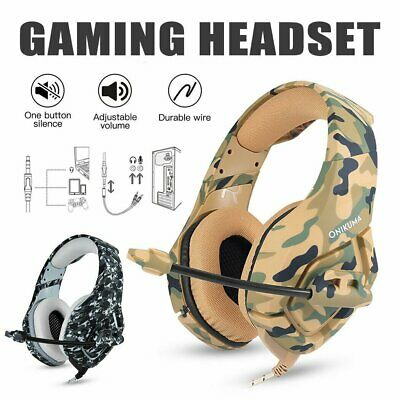 AU33.99 • Buy ONIKUMA K1 Mic Stereo Bass Surround Gaming Headset For PC Laptop PS4 Xbox One