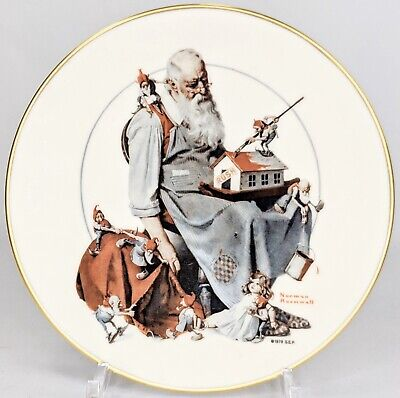 $ CDN33.33 • Buy  Norman Rockwell Gorham China Plate 1979 Santa's Helpers