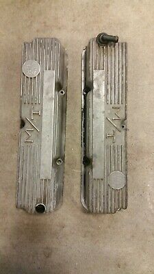 1960s MICKY THOMPSON FORD 427 ALUMINUM VALVE COVERS #3293800 390 428 THUNDERBOLT • 295$