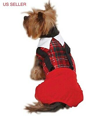 $12.99 • Buy Yuletide Tartan Jumper Holiday Christmas Clothes For Dogs Pets Size Small