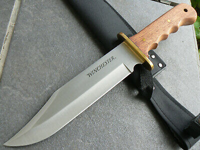 """AU49.85 • Buy Genuine Huge 14.25"""" Winchester Fixed Blade Knife Large Bowie Camping Knife 1206"""