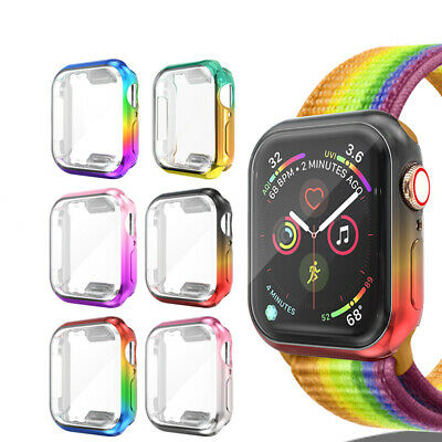 $ CDN8.14 • Buy For Apple Watch Series 5 4 3 2 Colorful Full Screen Protector Protect Case Cover