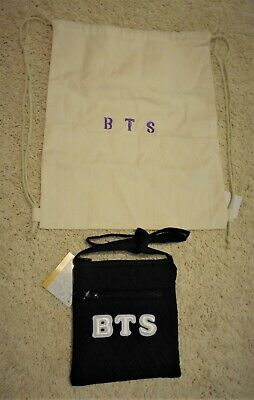 $28 • Buy BTS Patched Crossbody Purse & Handpainted Canvas Drawstring Backpack New
