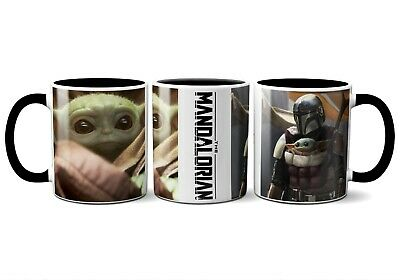 $14.99 • Buy BABY YODA AND THE MANDALORIAN 11oz CERAMIC COFFEE MUG DISNEY STAR WARS THE CHILD