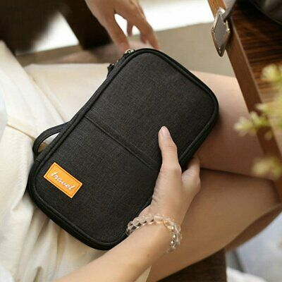 AU9.99 • Buy Document Ticket Organizer Bag Travel Wallet Passport Holder Credit Card Case