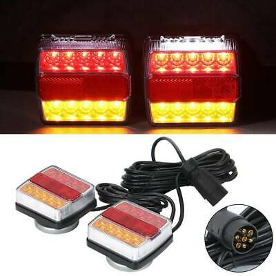 12V Magnetic LED Trailer Towing Lights Rear Tail Board Lamps Stop Car 7.5M Cable • 23.99£