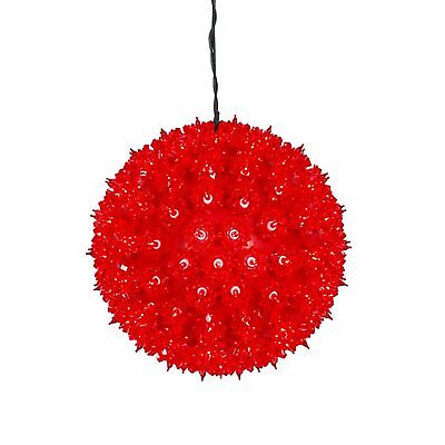 $17 • Buy Red Lighted Hanging Starlight Sphere Indoor / Outdoor Christmas Decoration 6