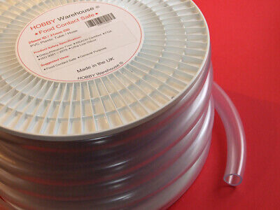 £0.99 • Buy 25mm ID PVC Plastic Tube Hose Food Contact Safe Flexible Clear Pipe-All Lengths