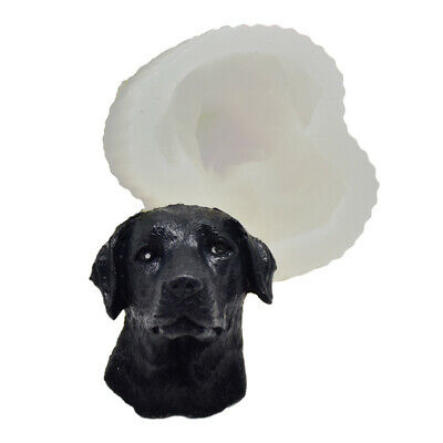 Labrador Dog Silicone Fondant Cake Chocolate Baking Mold Soap Candle Wax Mould • 4.99£
