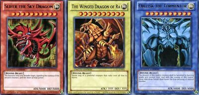 AU26.95 • Buy Yugioh | Set Of 3 Egyptian God Cards Slifer, Obelisk, Ra LC01 - NM