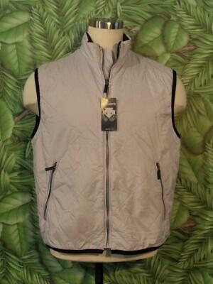 $40 • Buy NEW Tag DESCENTE Vest Light Gray Two Pocket Nylon Men L Retail $130
