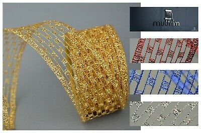 Luxury Net Wire Mesh Ribbon Trimming Decorating Wedding Floral Wrapping Gift DIY • 1.97£