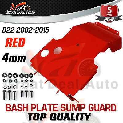 AU136 • Buy Bash Plate Sump Guard For Nissan Navara D22 2002-2015 RED 4MM Underbody Protect