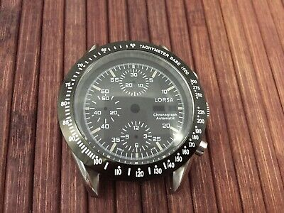 $119 • Buy LORSA Watch Case And Dial For ETA Valjoux 7750 Swiss Made Movement - Tachymeter