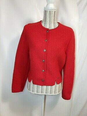 $19 • Buy Geiger Austria Womens Wool Blazer Jacket Red Size 42 Wool