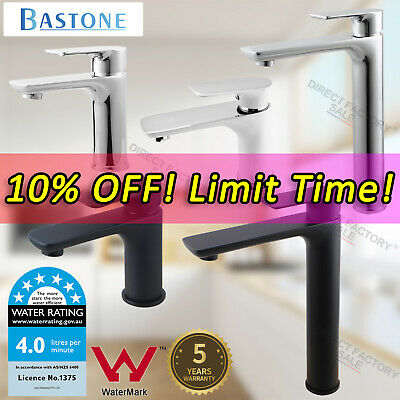 AU86 • Buy WELS Bathroom Basin Mixer Tap Brass Black Chrome Tall Sink Vanity Laundry Faucet