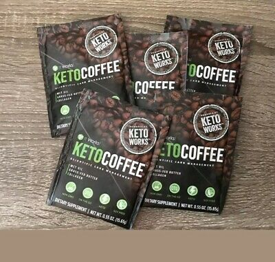 $11.50 • Buy It Works! KetoCoffee Keto Coffee 5 Single Serve Packets - New! Carb Management