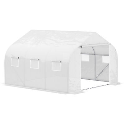 Outsunny 4.5x3x2m Walk-In Greenhouse Warm House Garden Tunnel Shelter Plant Shed • 105.99£