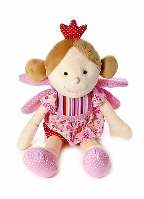 Mousehouse Pink Fairy Princess Doll Soft Toy With Wings And Crown Gift For Girls • 13.99£