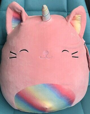 "$ CDN26.46 • Buy Squishmallows Kellytoy Sabrina Pink Caticorn Cat Unicorn Rainbow 13"" Plush Doll"