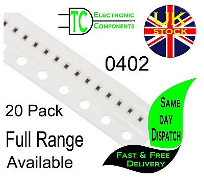 $1.75 • Buy 0402 SMD Resistors 1% Full Range Available (20 Pack) **UK Seller** Free P&P