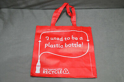 £9.99 • Buy Genuine Original Coca Cola Shopping Bag Made With Recycled Bottles In Red Colour