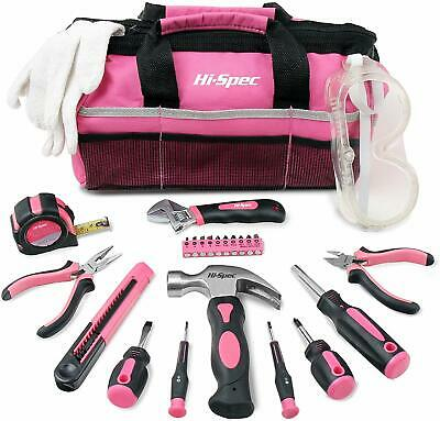 Tool Box Bag Kit Pink Womens DIY Hand Home Set Small Ladies Gift Sale Buy • 59.99£