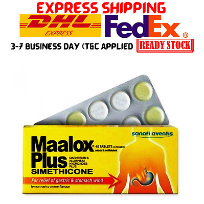 $22.90 • Buy 2x Maalox Plus Fast Relief Of Gastric And Stomach Wind 40 Tablets NEW FREE SHIP