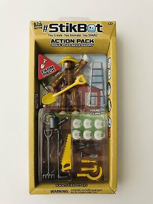 Stikbot Action Farm Pack Role Play Accessory Transparent Brown Yellow Bot Create • 18.59£