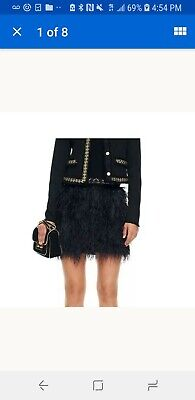 £144.86 • Buy Juicy Couture Black Ostrich Feater Skirt